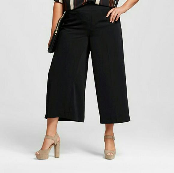 5c16bfcdddf Ava   Viv Pants - Ava Viv plus 1x wide leg culottes capri pants
